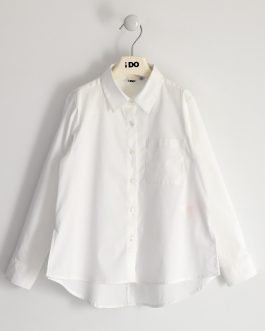 iDO White Stretch Shirt with Dipped Back