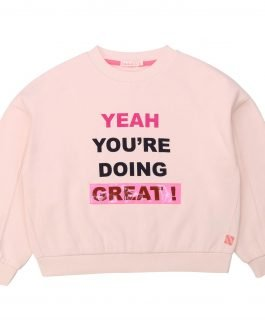 """Billieblush Pink Sweater with """"YEAH YOU'RE DOING GREAT!"""""""