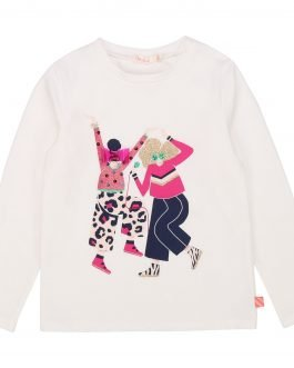 Billieblush Ivory Top with Dancing Girls Image