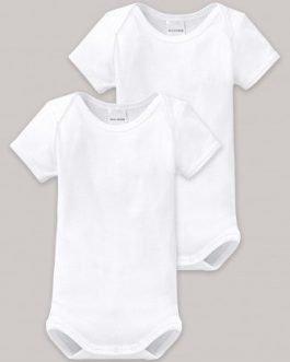 Schiesser White Unisex Baby Onesie 2pk