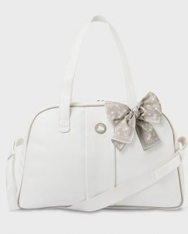 Mayoral Baby Off White Baby Changing Bag and Changing Mat