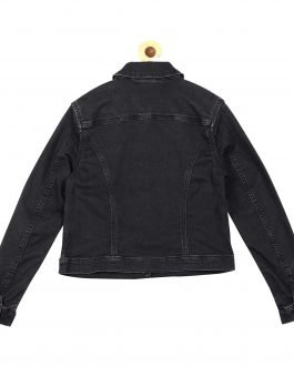Guess Girl Stone Washed Black Denim Jacket