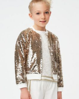 iDO Girl Cream Occasion Wear Top with Gold