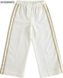 iDO Girl Cream Trousers with Gold Stripes