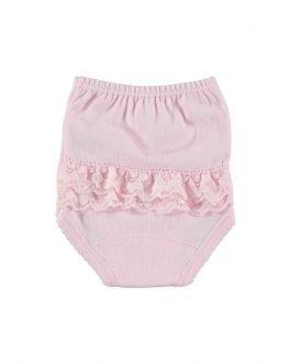 Babidu Baby Girl Soft Cotton Pink Ruffle Pants