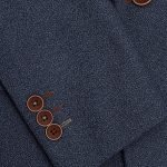1880 Club Boys Navy Textured Jacket and Brown Butttons