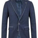 1880 Club Boys Blue Check Jacket