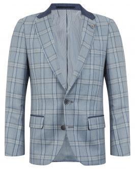 1880 Club Boys Baby Blue Check Jacket