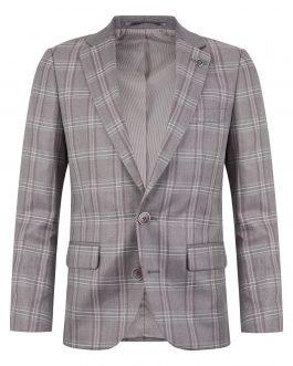 1880 Club 3pc Light Burgundy Check Suit