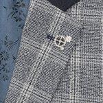 1880 Club Boys Navy Check Jacket