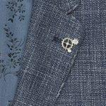 1880 Club Boys Navy and White Fleck Textured Jacket