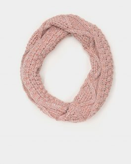 Tiffosi Knitted Snood Scarf Pink