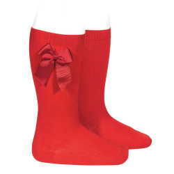 Condor Baby Girls Red Socks With Bow