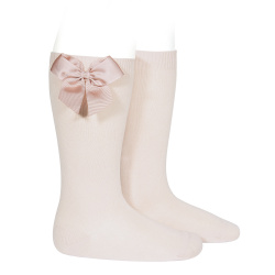 Condor Baby Girls Nude Socks With Bow
