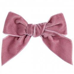 Condor Girls Dusky Pink Velvet Hair Bow