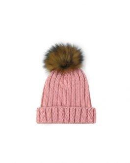 Sardon Pom Pom Hat Dusky Pink 4yrs-8yrs